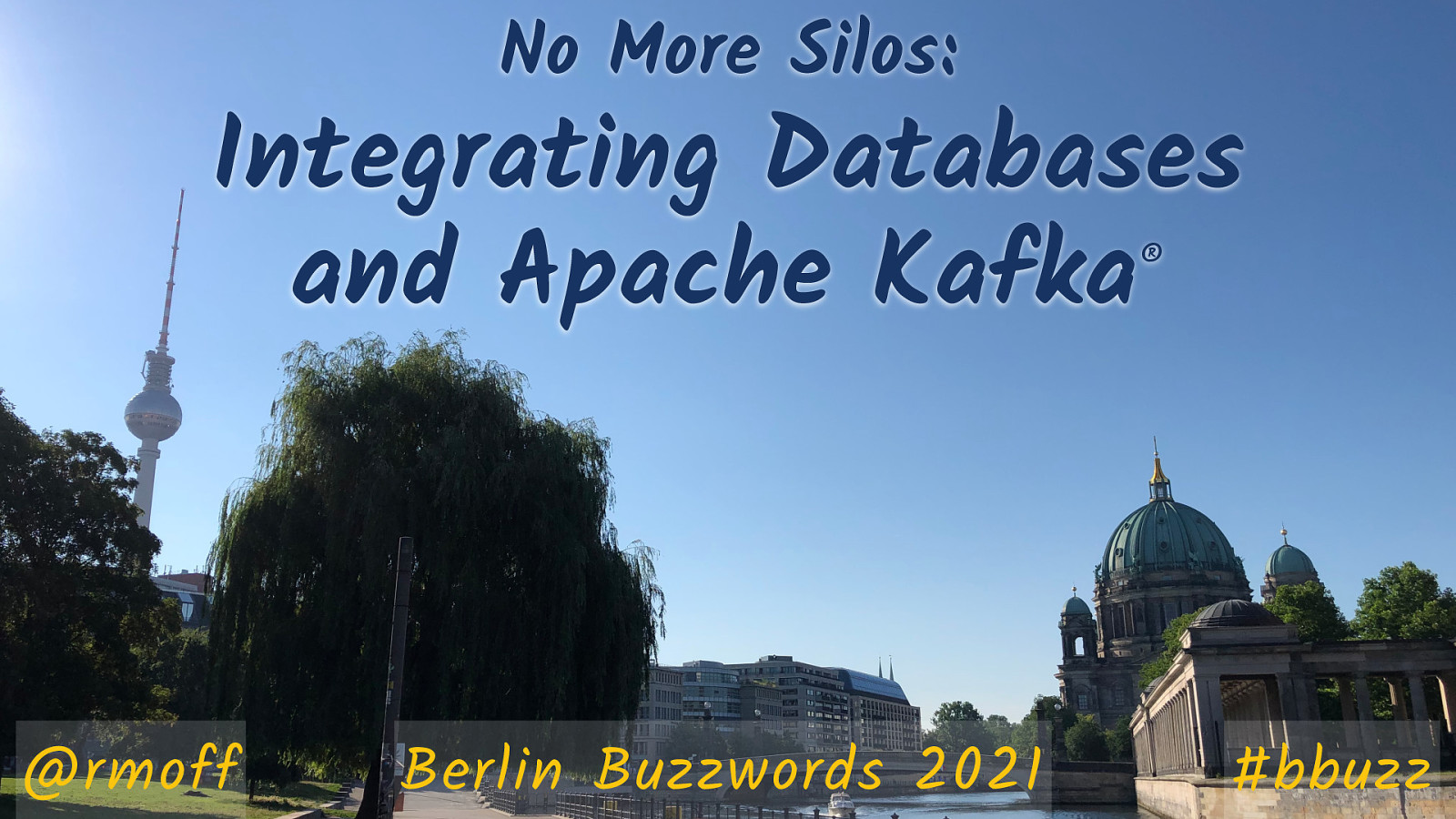 No More Silos: Integrating Databases and Apache Kafka
