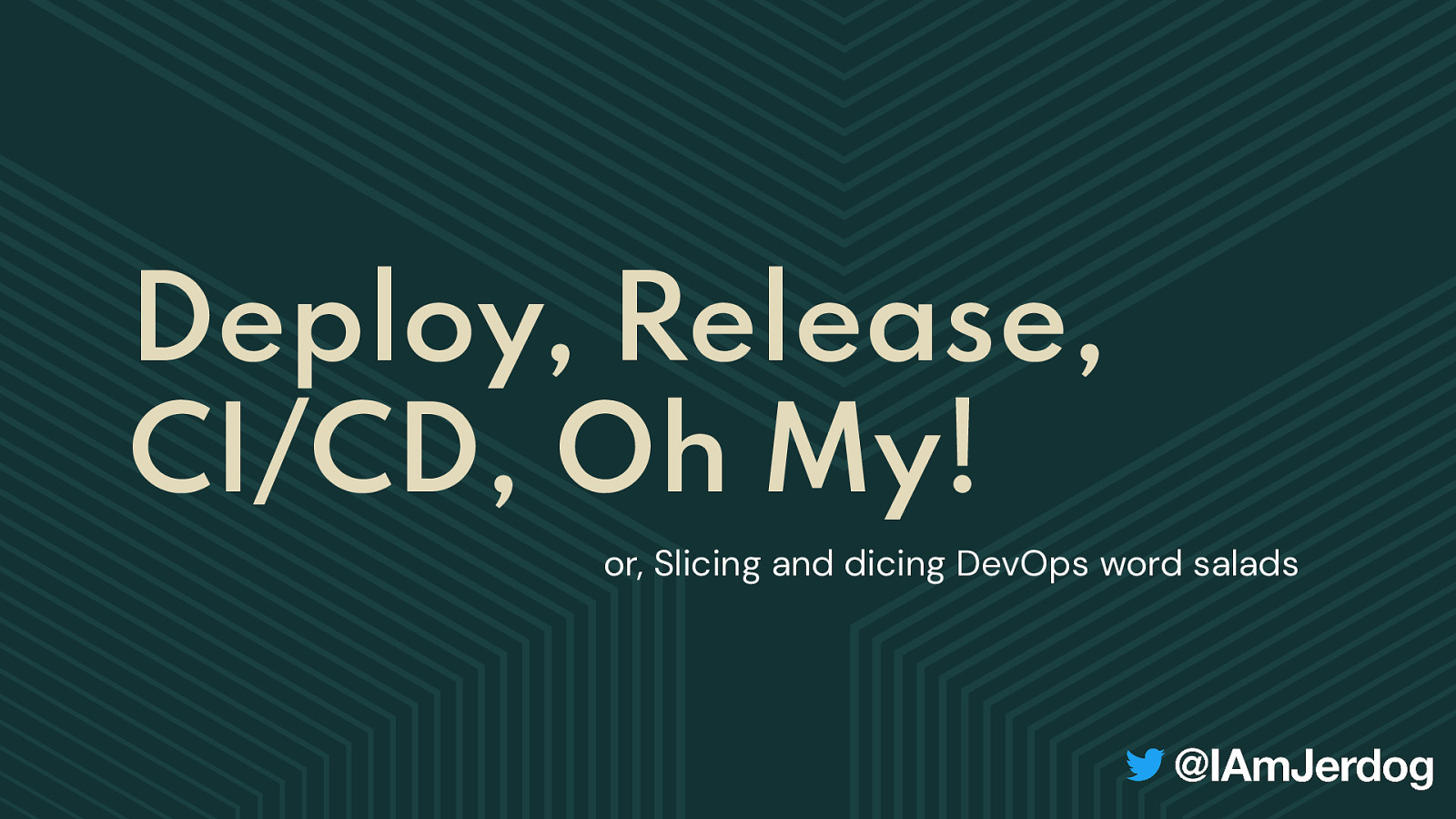 Slicing and Dicing: Building DevOps Word Salads