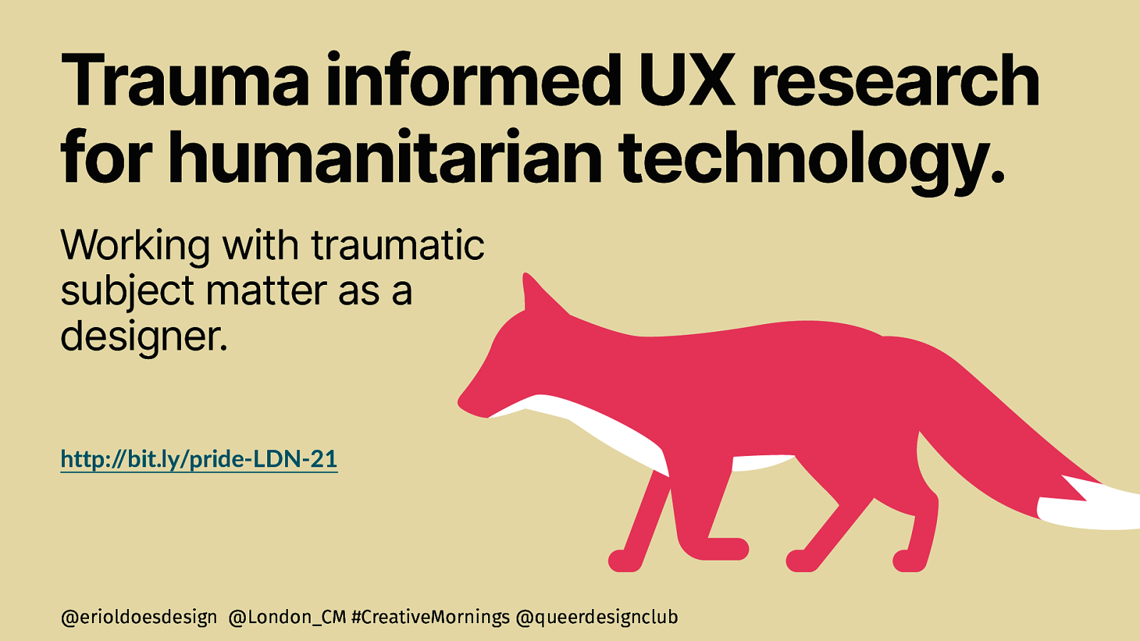 Trauma informed UX research for humanitarian technology.