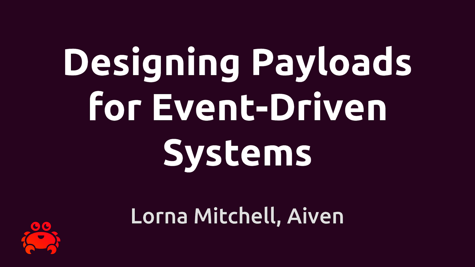 Designing Payloads for Event-Driven Systems