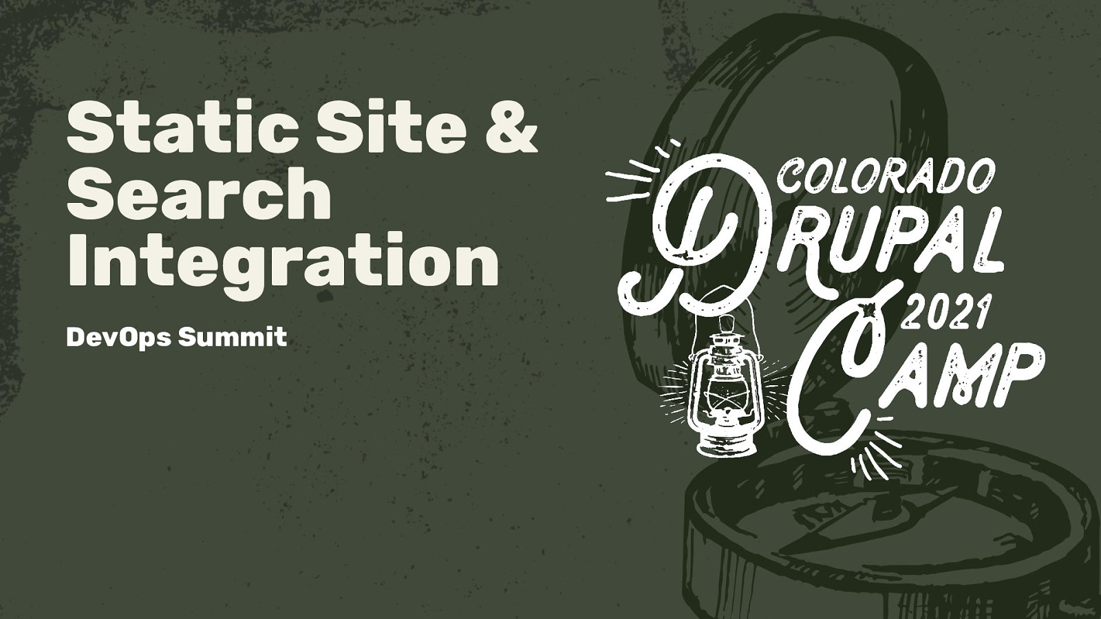 Static Site and Search Integration