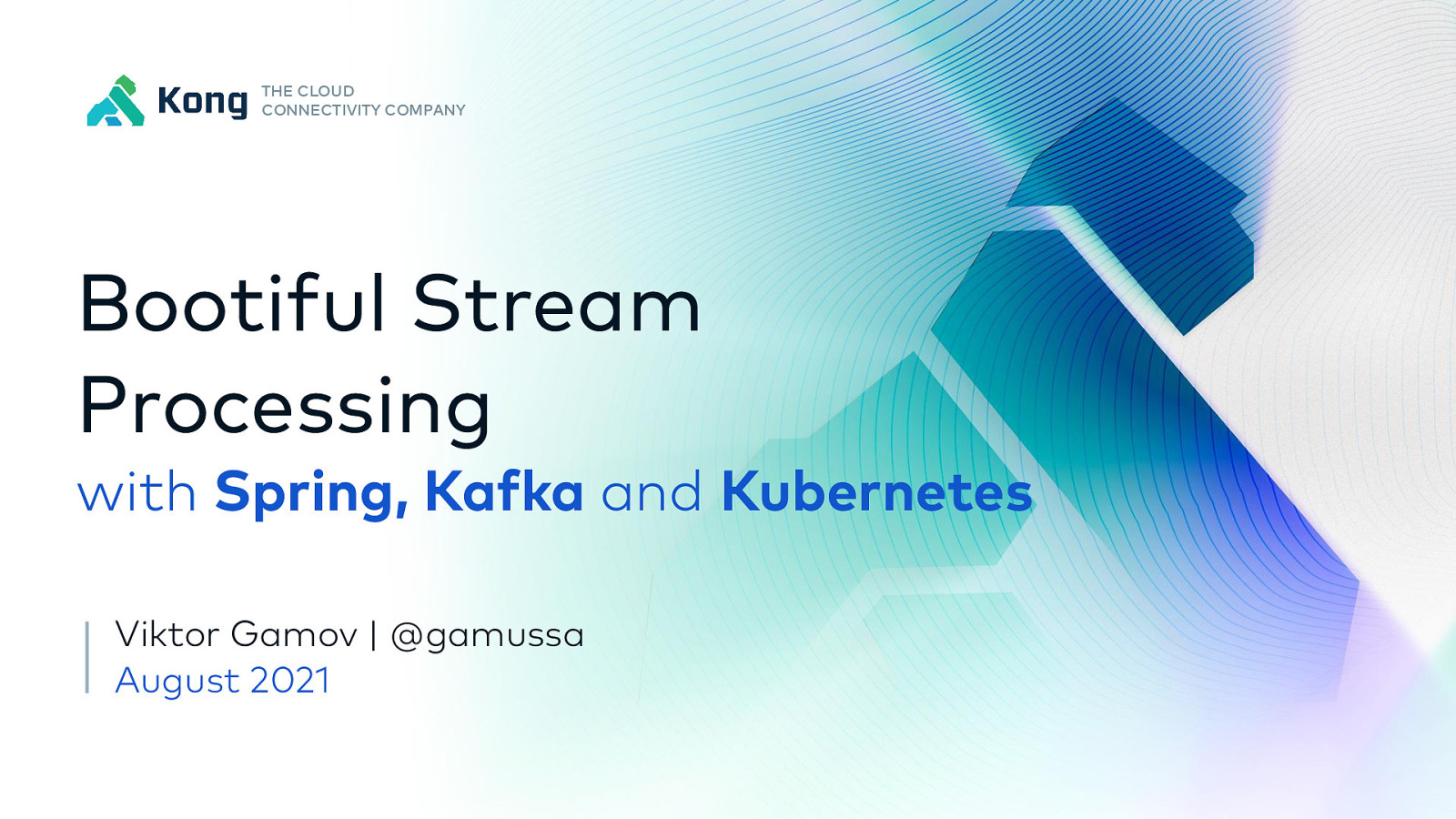 Bootiful Stream Processing with Spring and Kafka