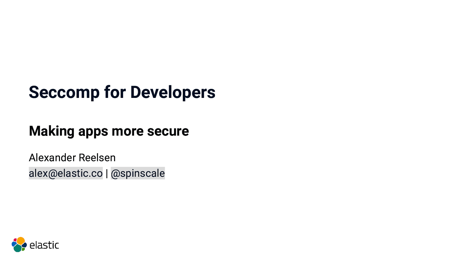 Seccomp for developers - making your apps more secure