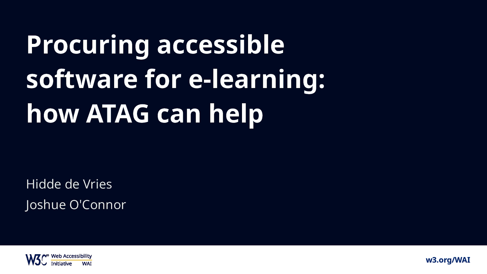 Procuring accessible software for e-learning: how ATAG can help
