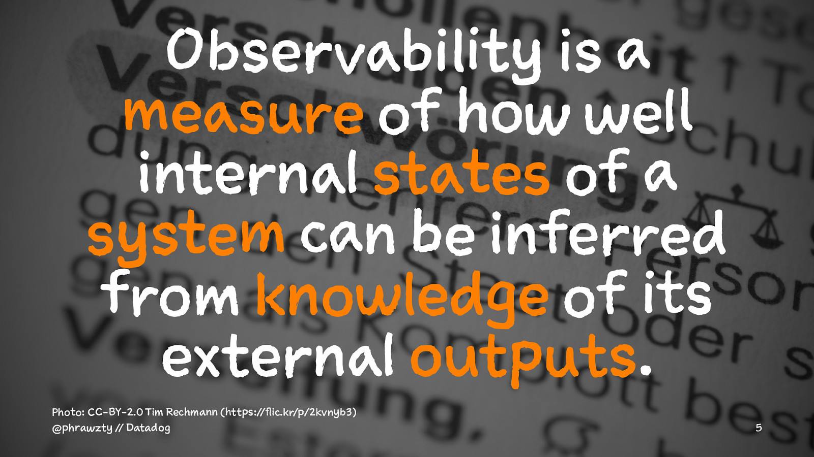 Principles of Observability