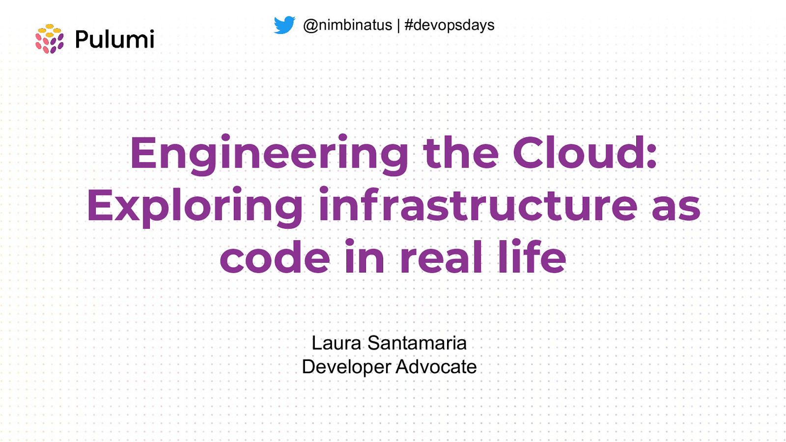 Engineering the Cloud: Exploring infrastructure as code in real life