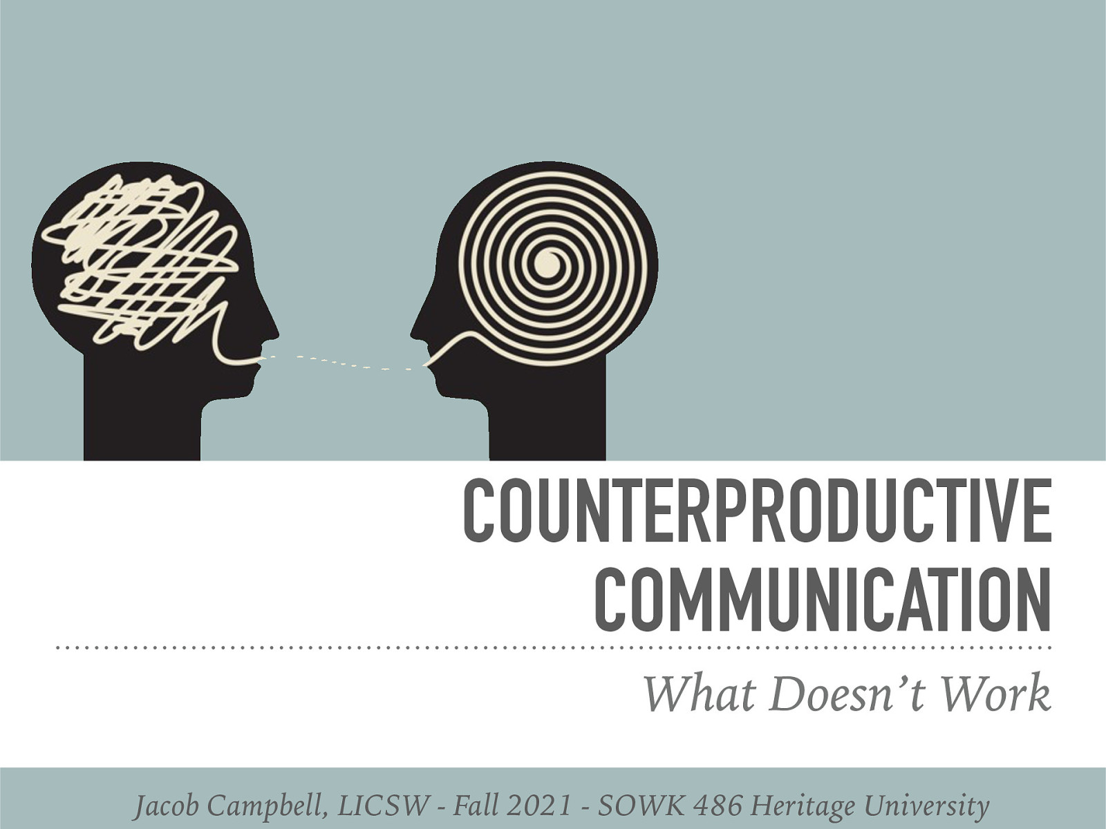 SOWK 486 - Week 07 - Counterproductive Communication