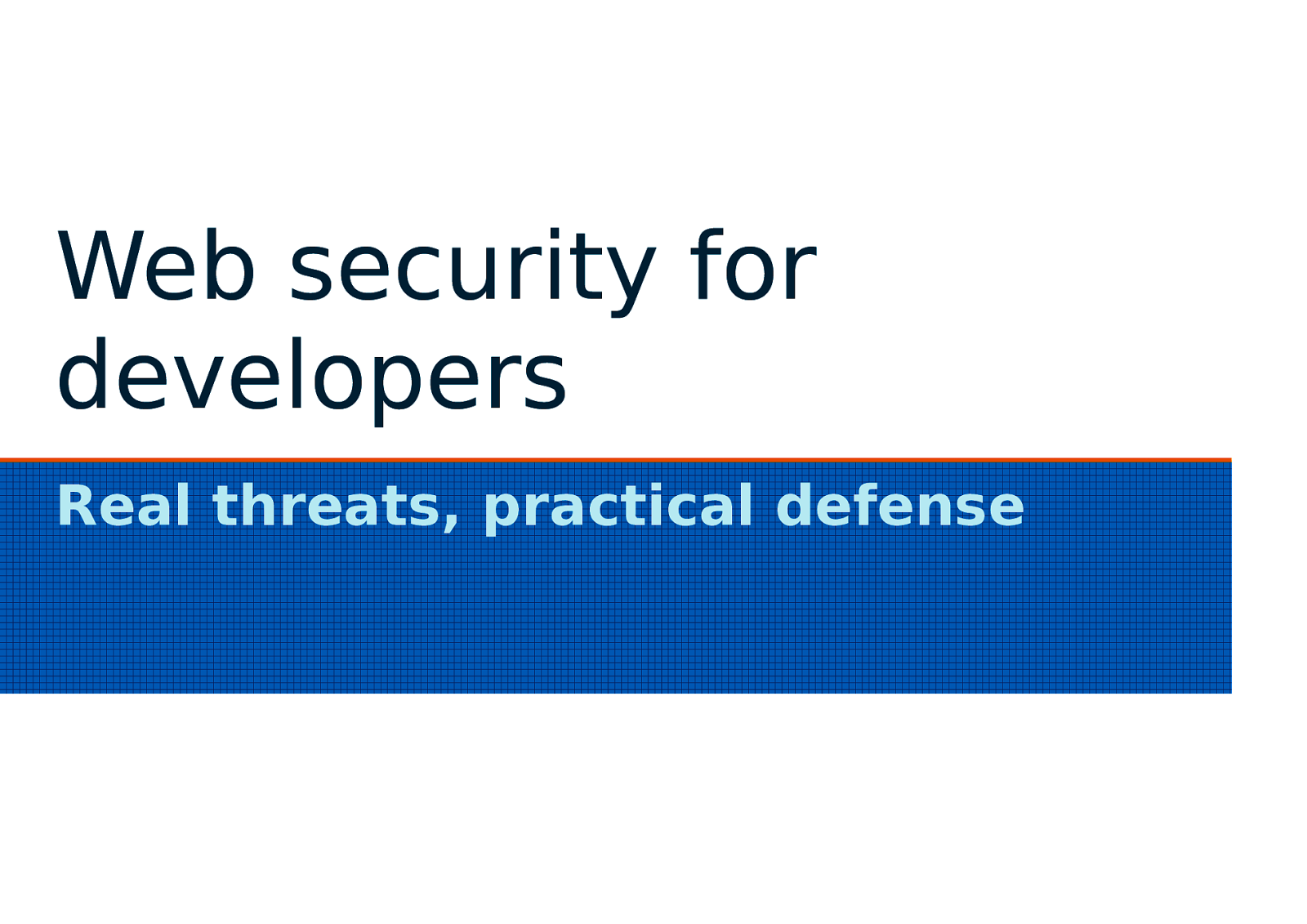 Web Security for Developers, pt.1