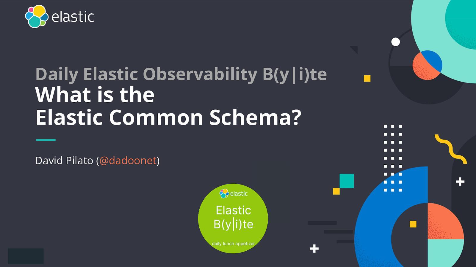 S03E03: What is the  Elastic Common Schema?