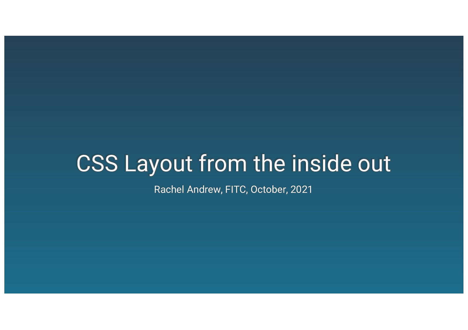 CSS layout from the inside out