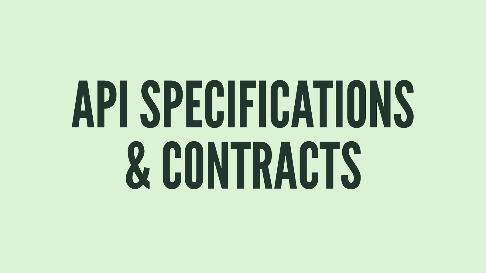API specifications and contracts by Sébastien Charrier
