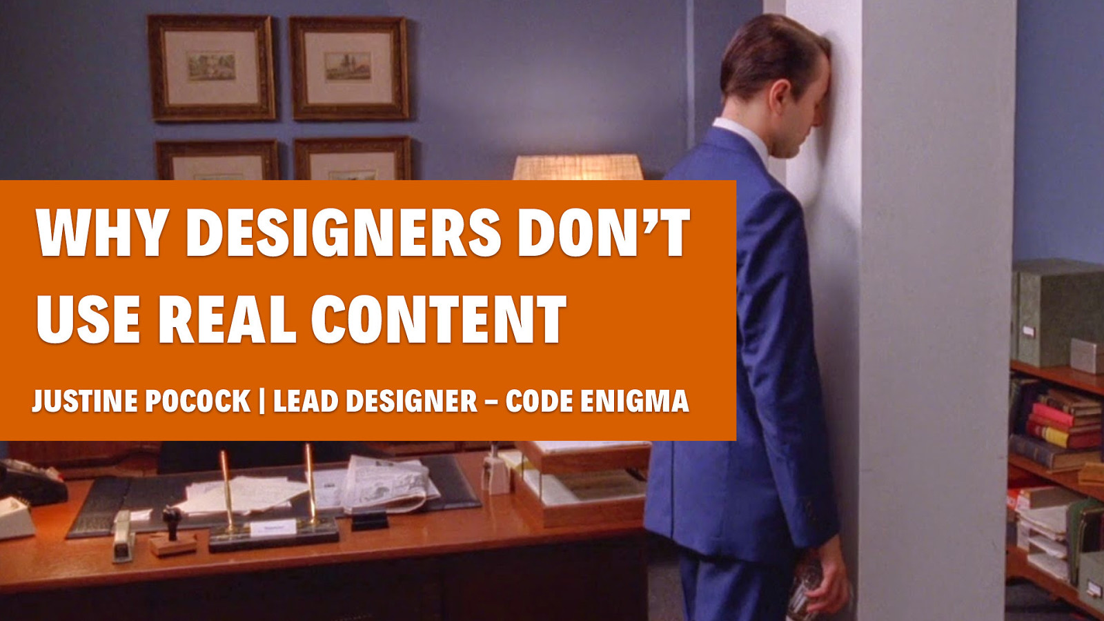 Why don't designers use real content?