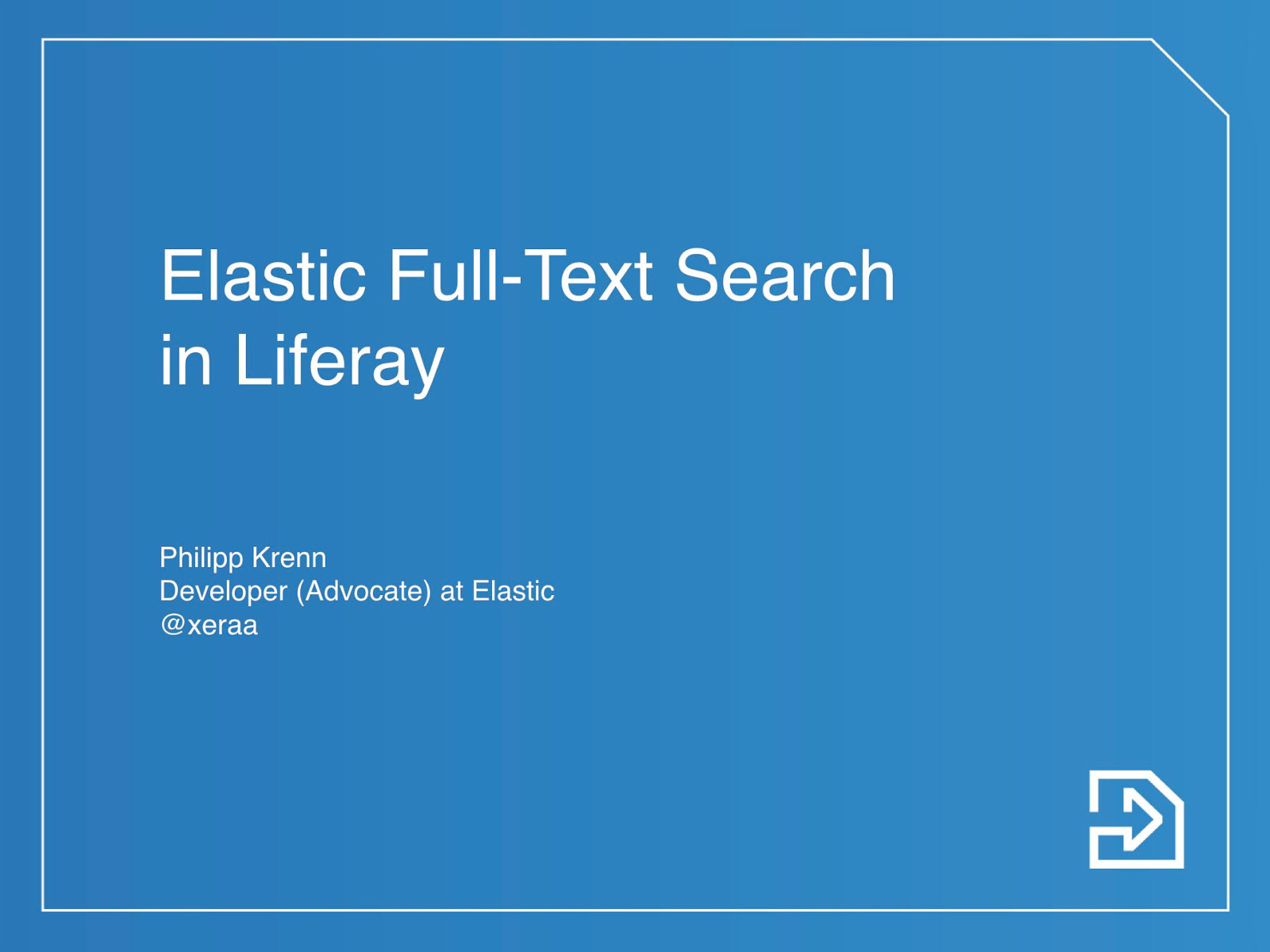 Elastic Full-Text Search in Liferay