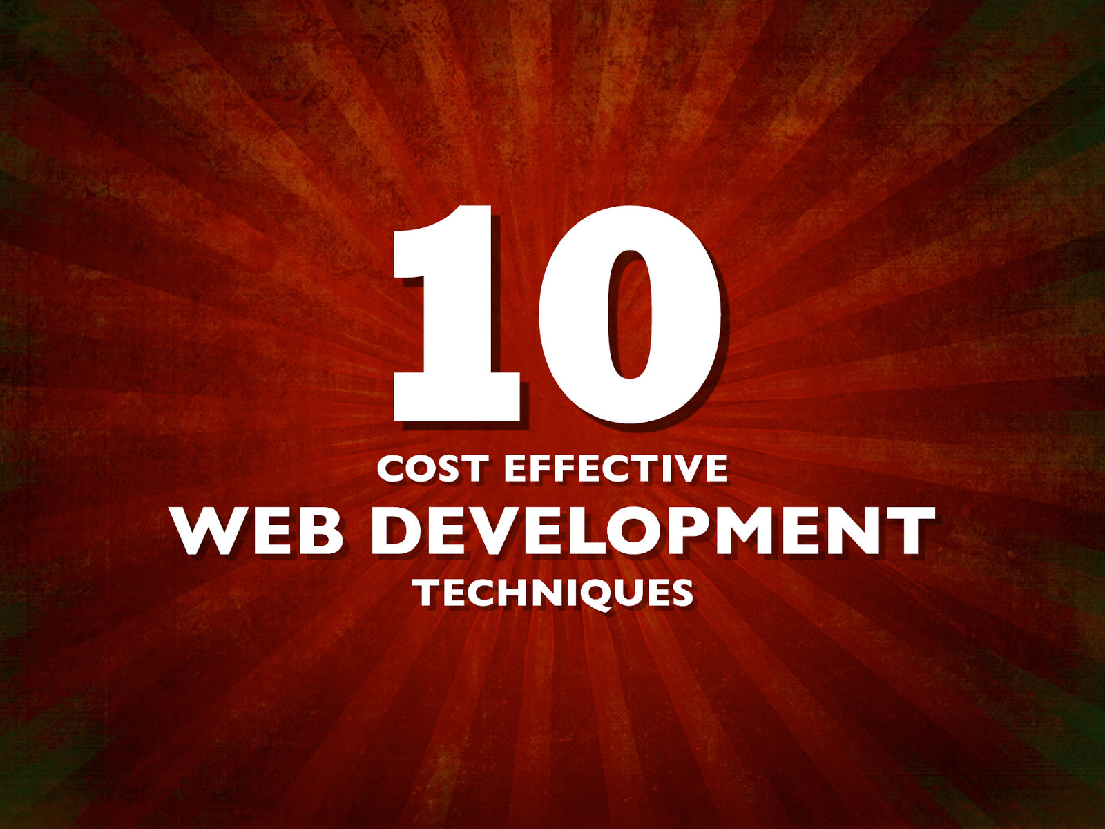 10 Cost Effective Web Development Techniques