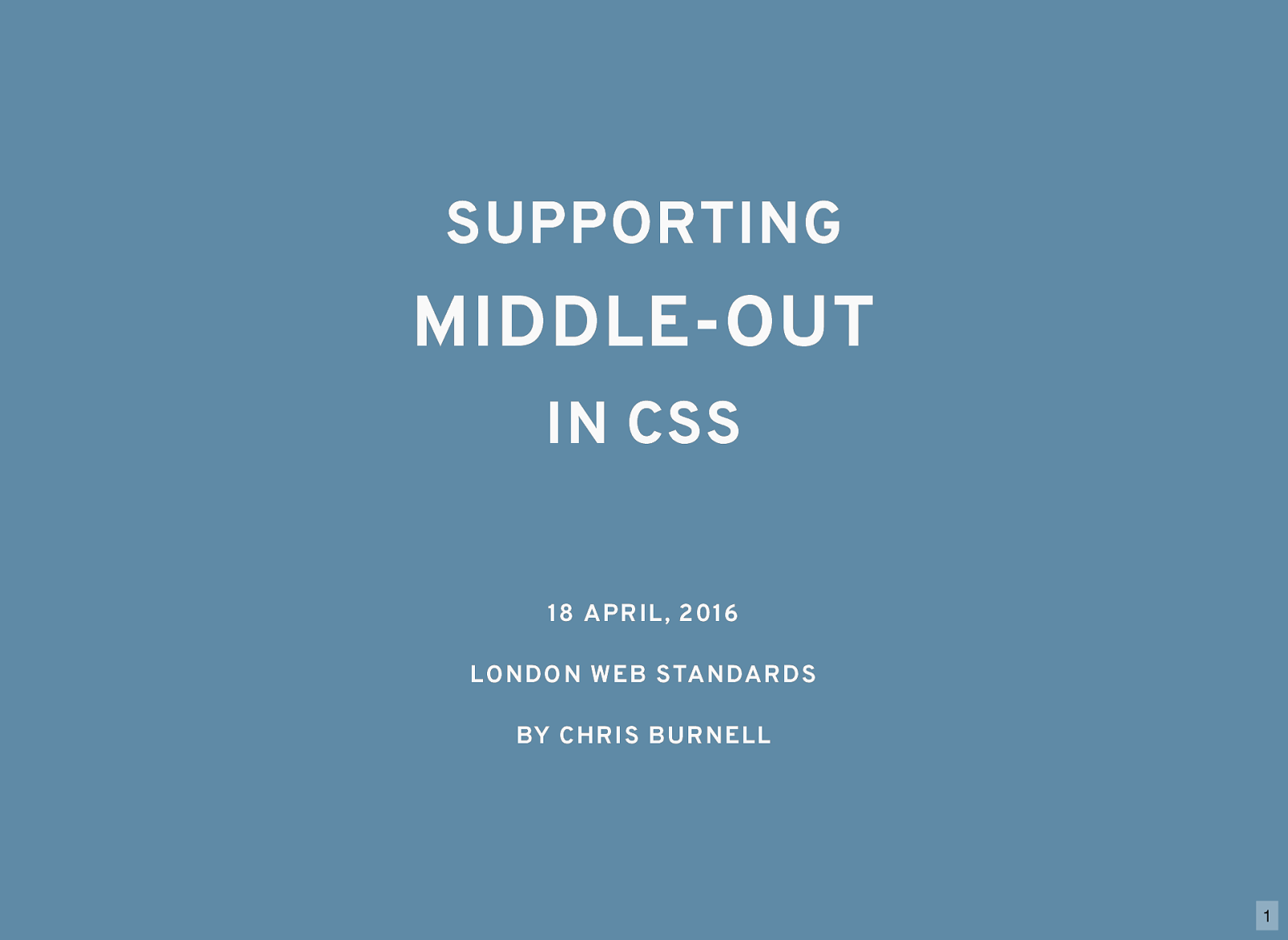 Supporting Middle-Out in CSS