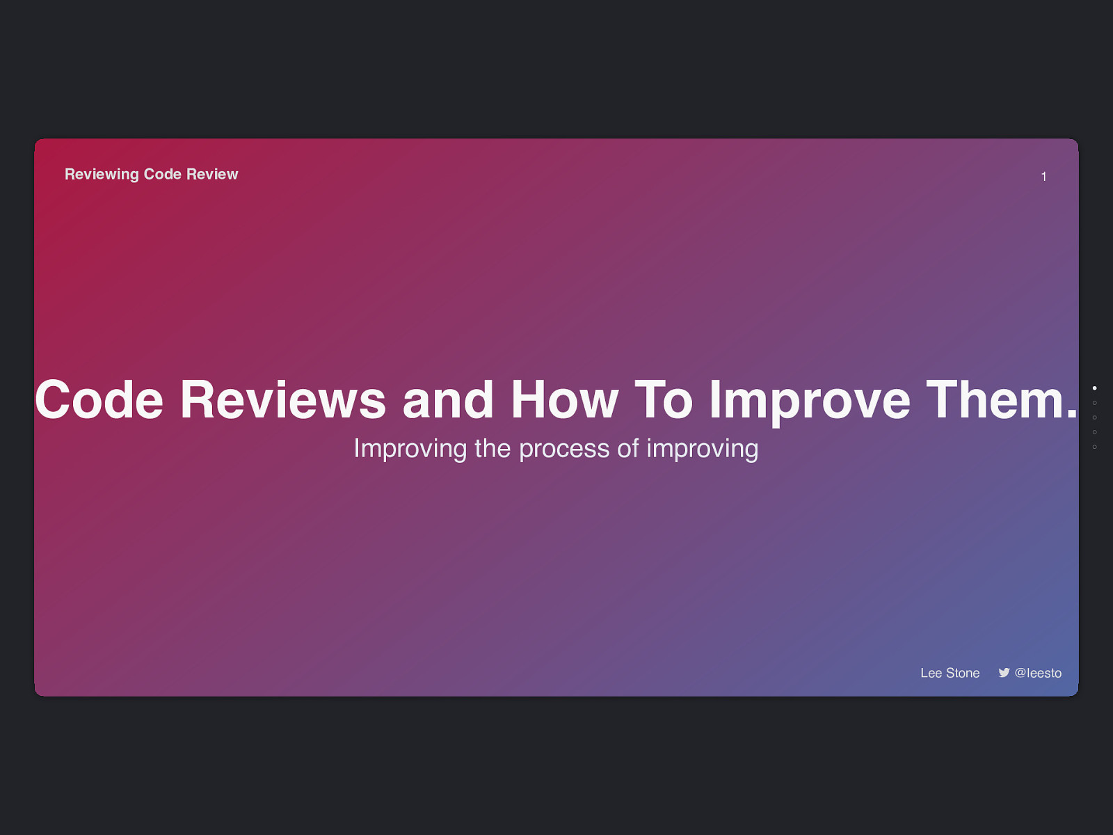 Code reviews and how to improve them