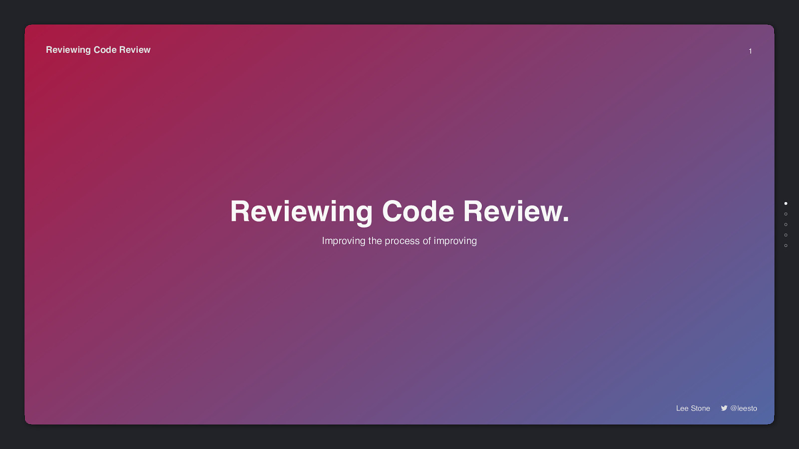 Reviewing Code Reviews