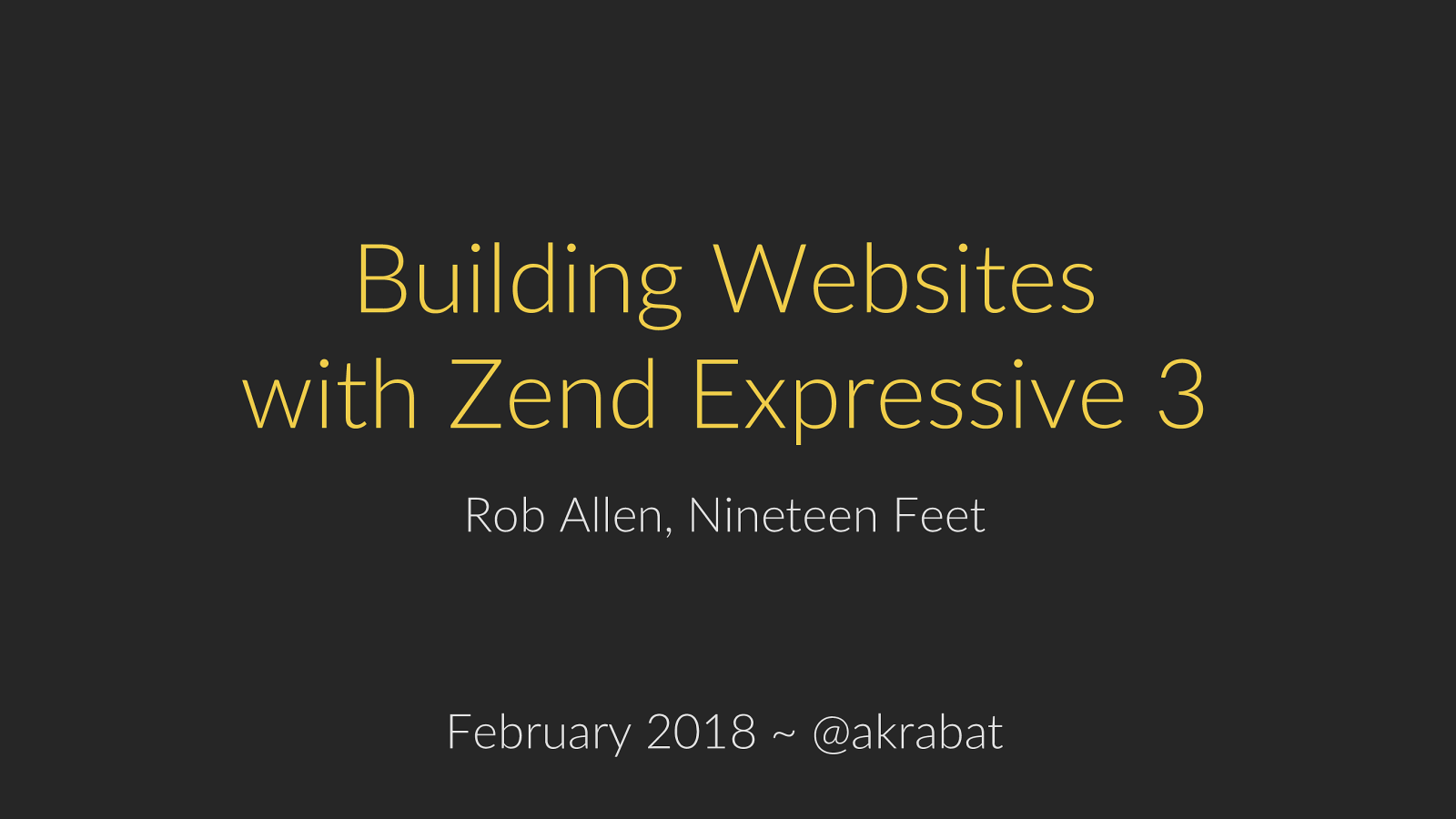 Building Websites with Zend Expressive 3
