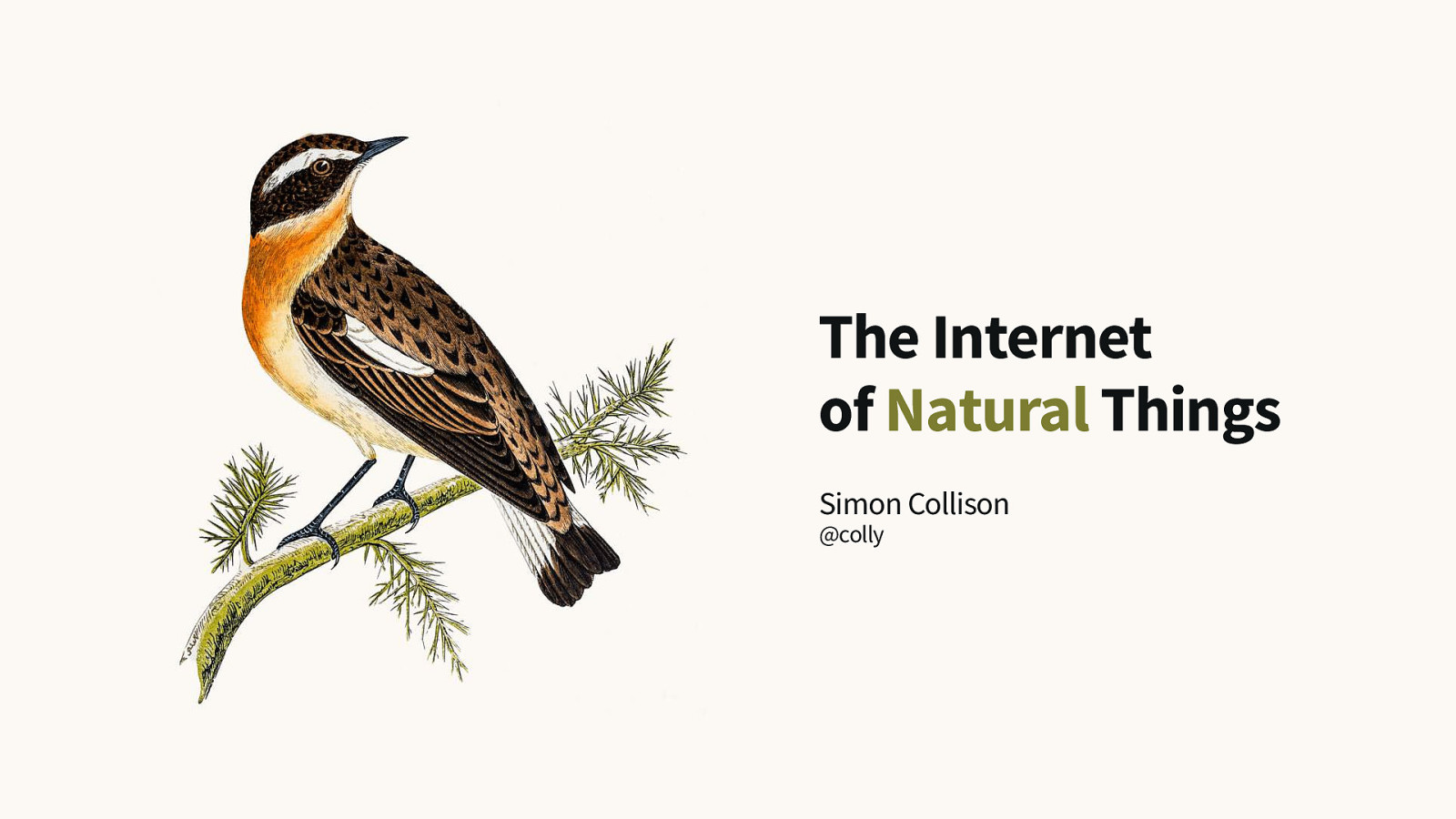 The Internet of Natural Things