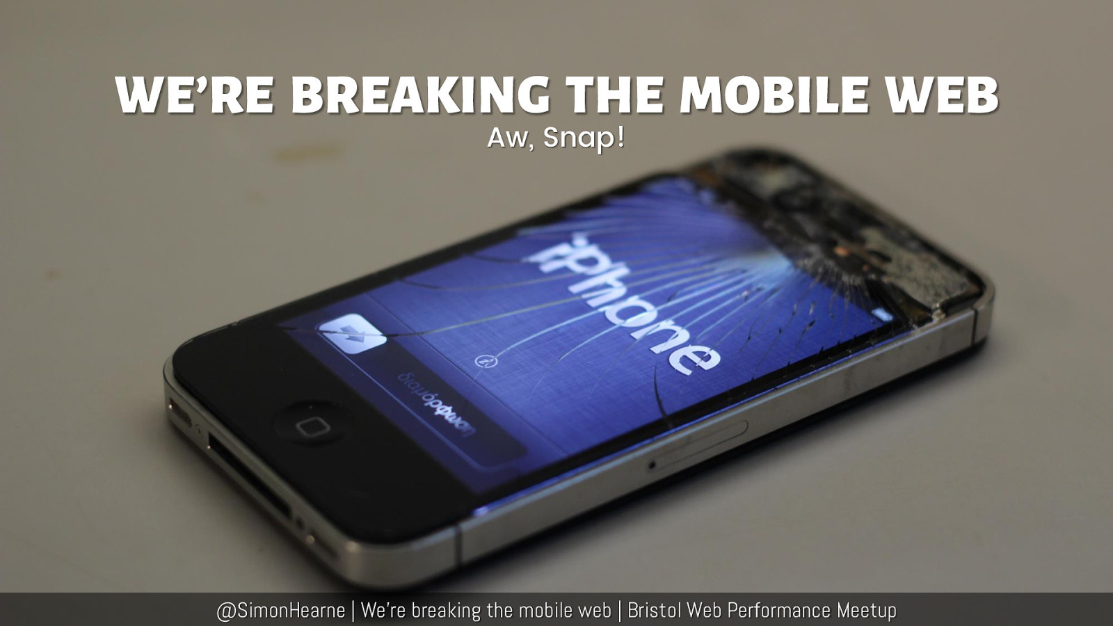 We're Breaking the Mobile Web