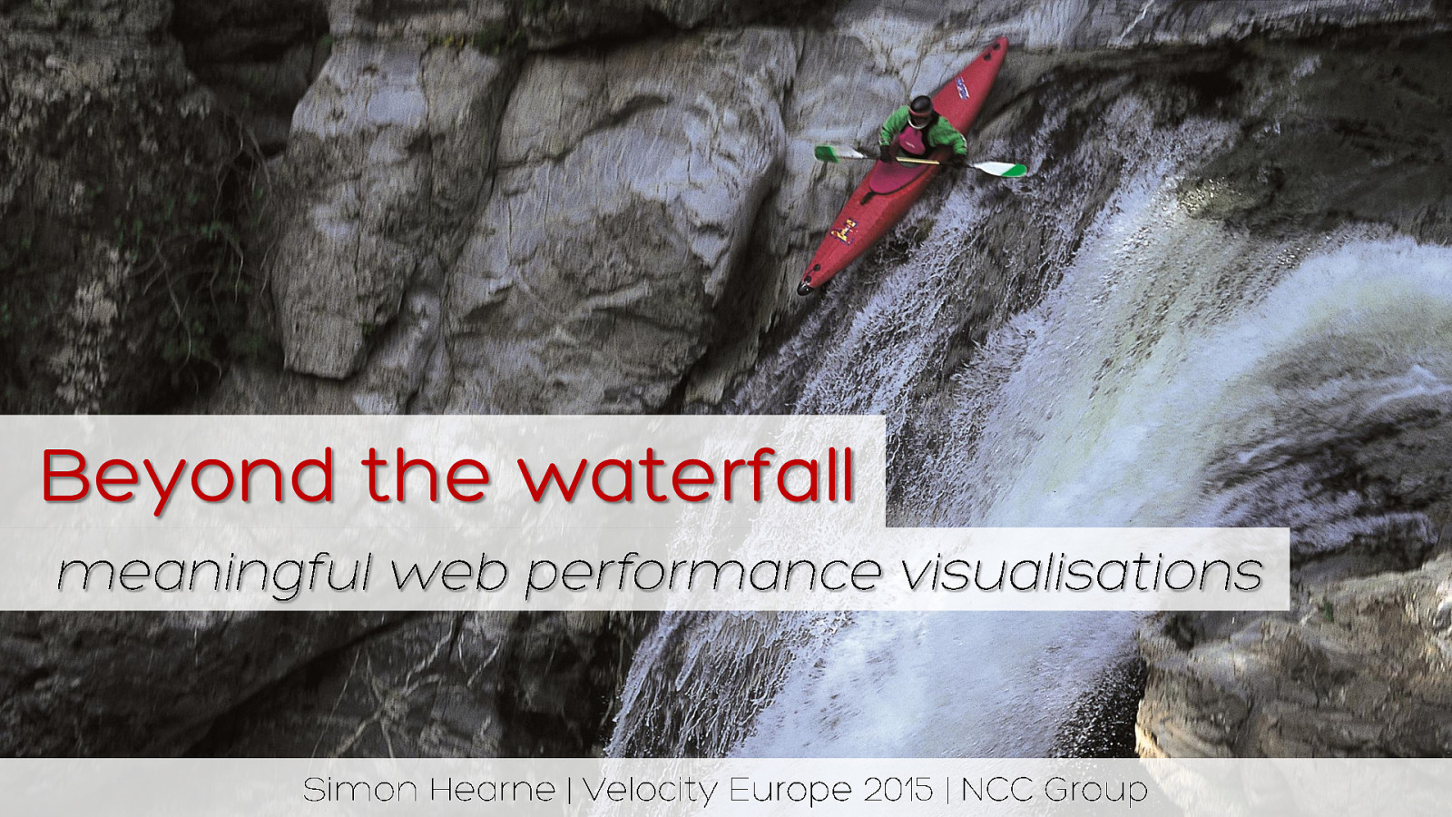 Beyond the Waterfall - meaningful web performance visualisations