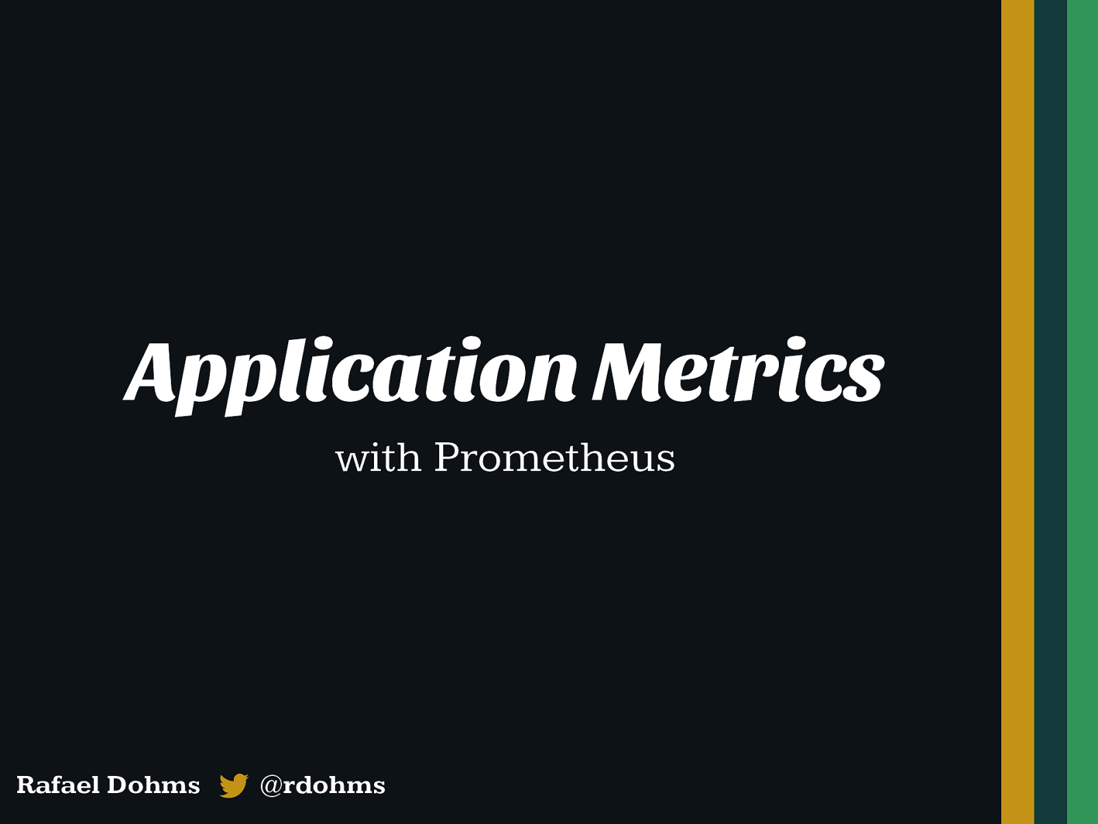 Application Metrics (with Prometheus examples)