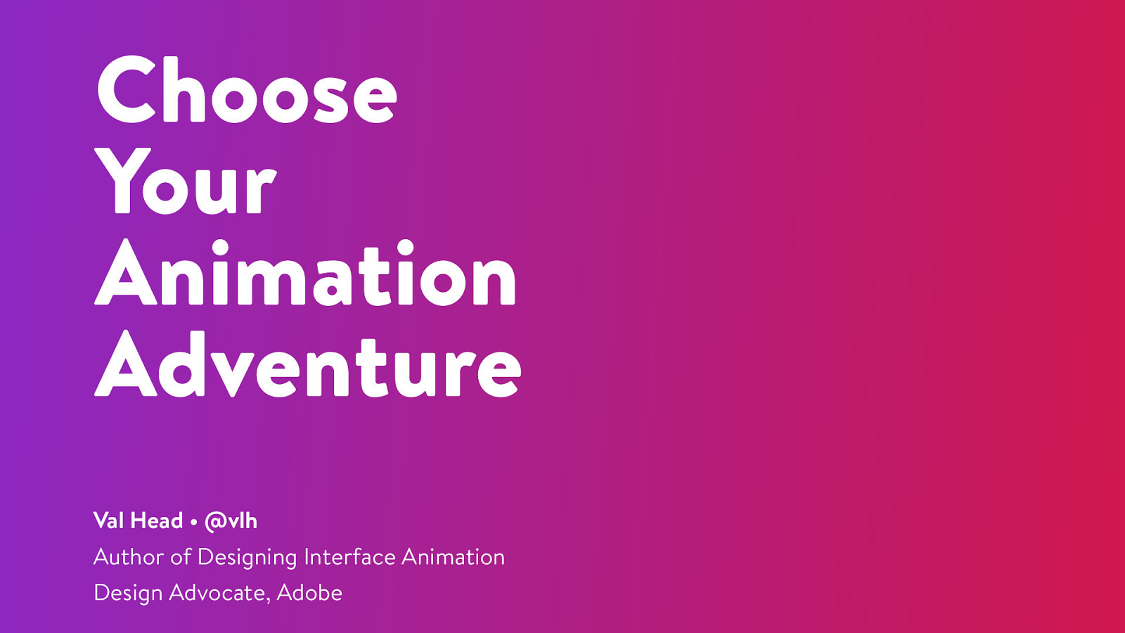 Choose your (web) animation adventure