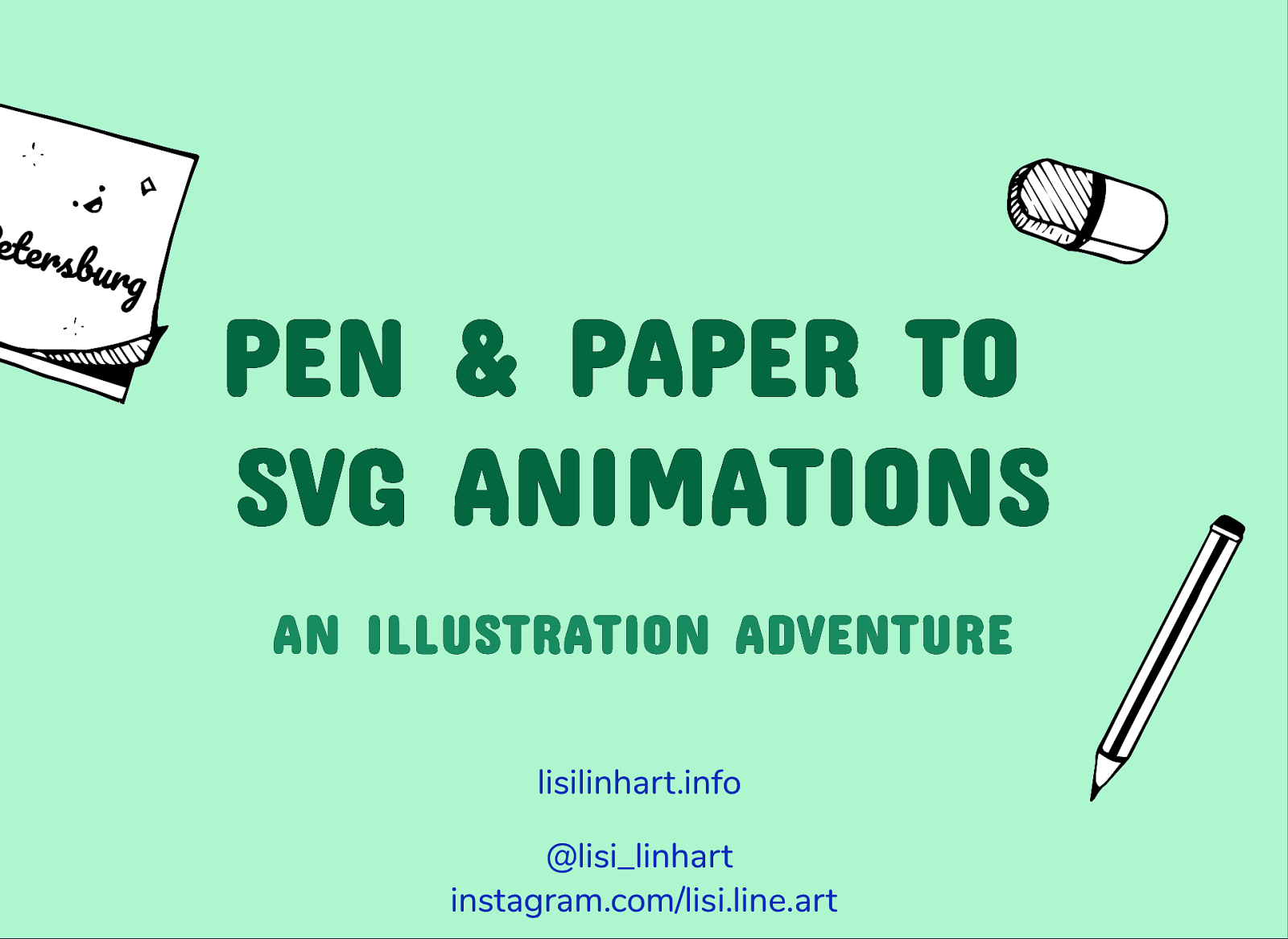 From Pen & Paper to SVG Animations. An Illustration Adventure