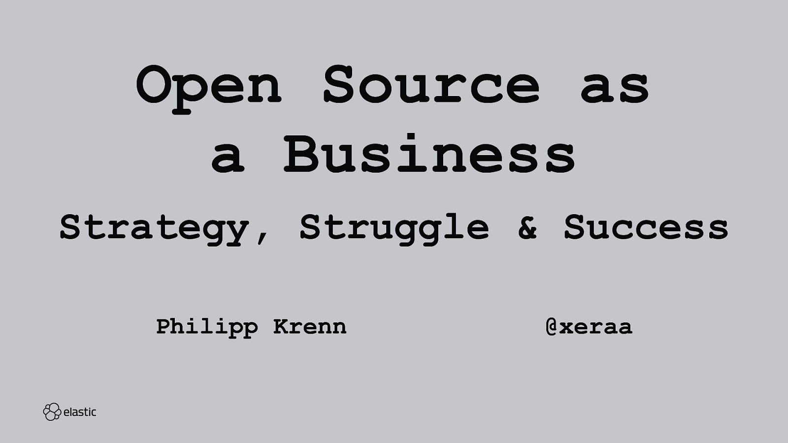 Open Source as a Business