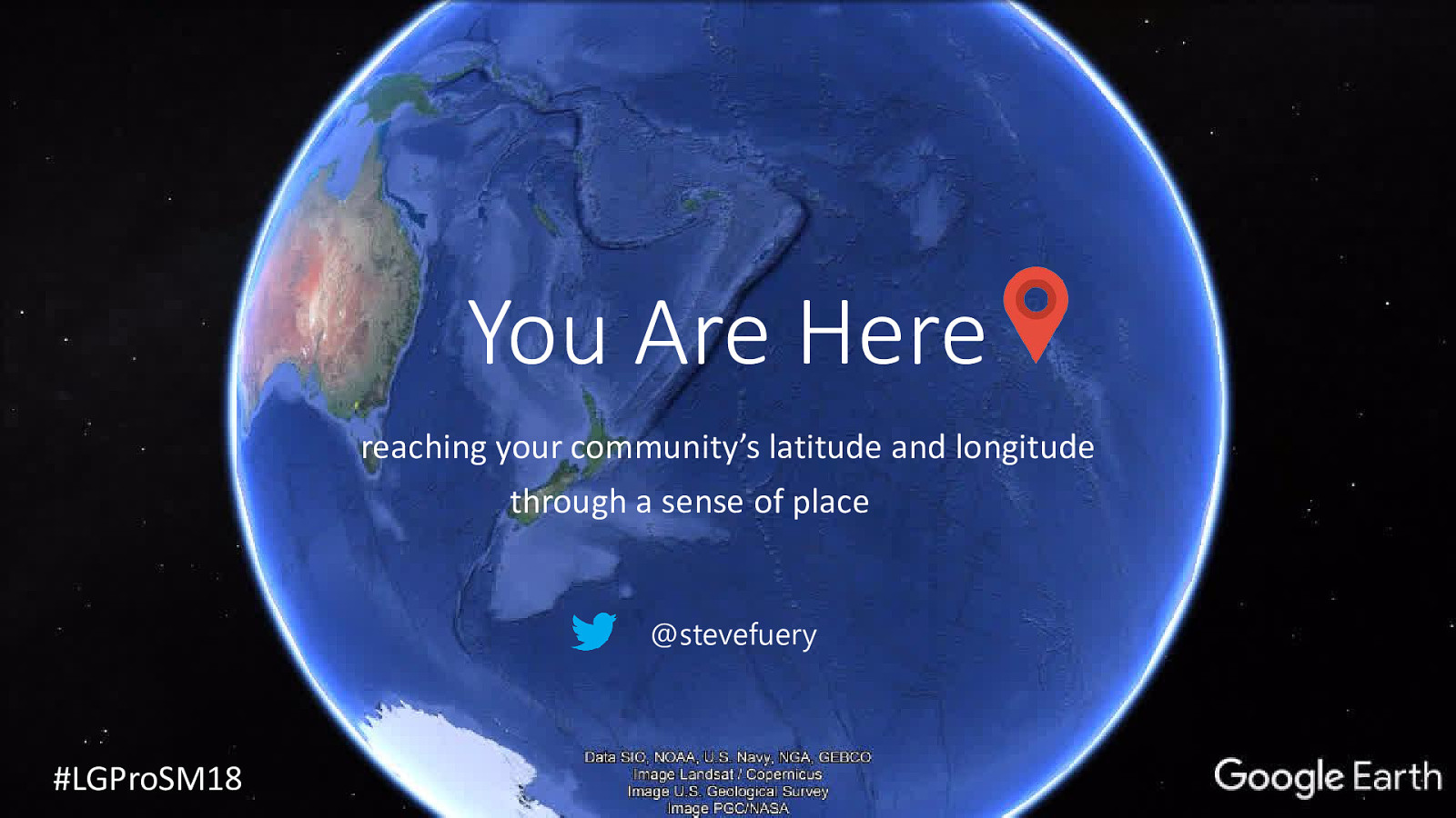 You Are Here! (opening slide)