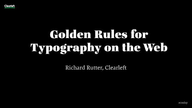 Golden Rules of Typography on the Web