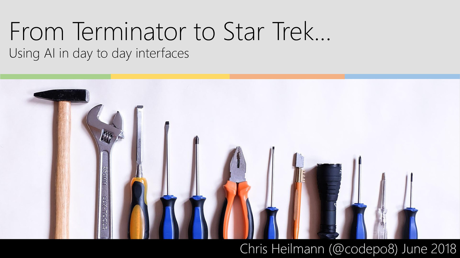 From Terminator to Star Trek… Using AI in day to day interfaces