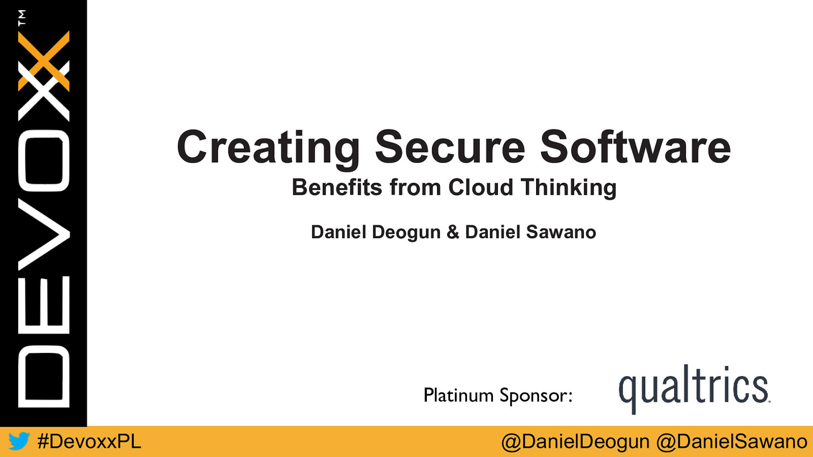 Creating secure software - benefits from cloud thinking