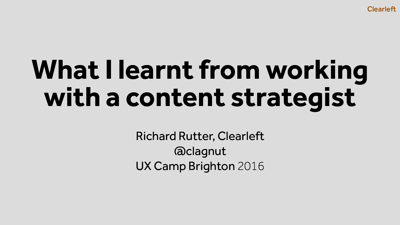 What I learnt from working with a content strategist