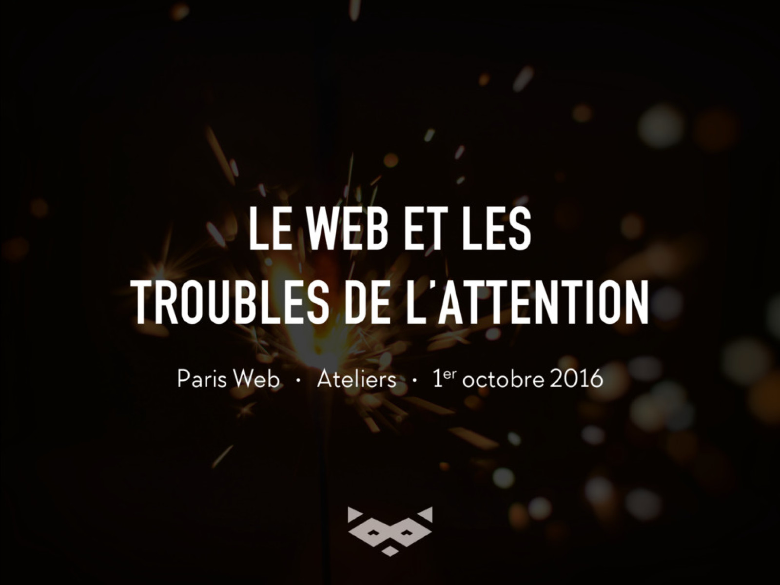 Le Web et les troubles de l'attention – Workshop