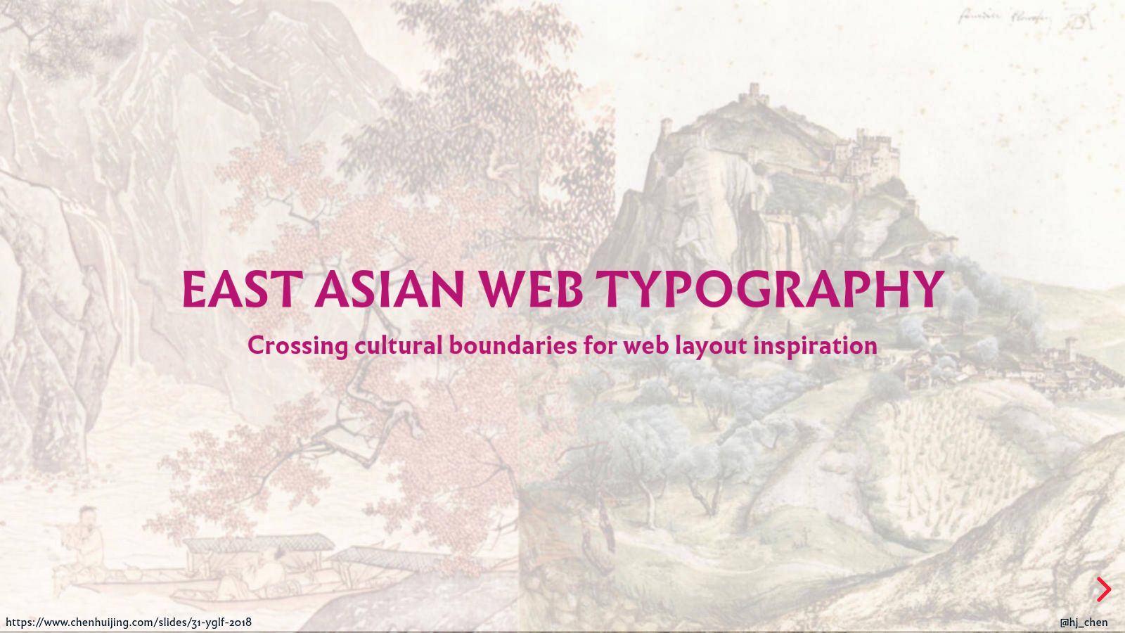East Asian web typography: crossing cultural boundaries for web layout inspiration