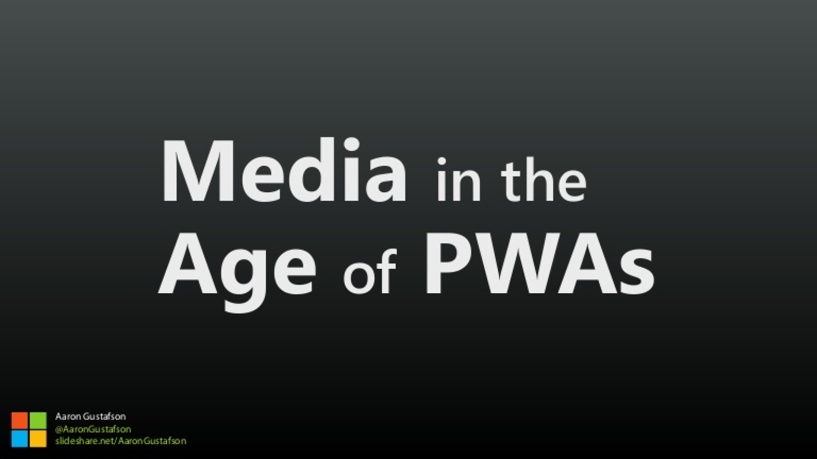 Media in the Age of PWAs