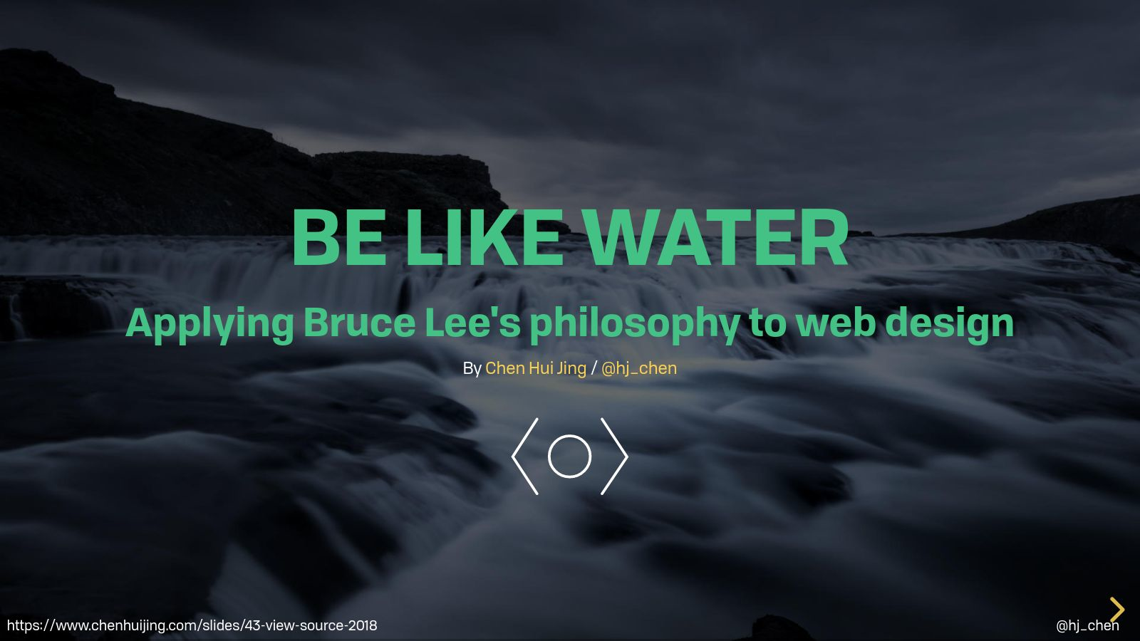 Be like water: applying Bruce Lee's philosophy to web design