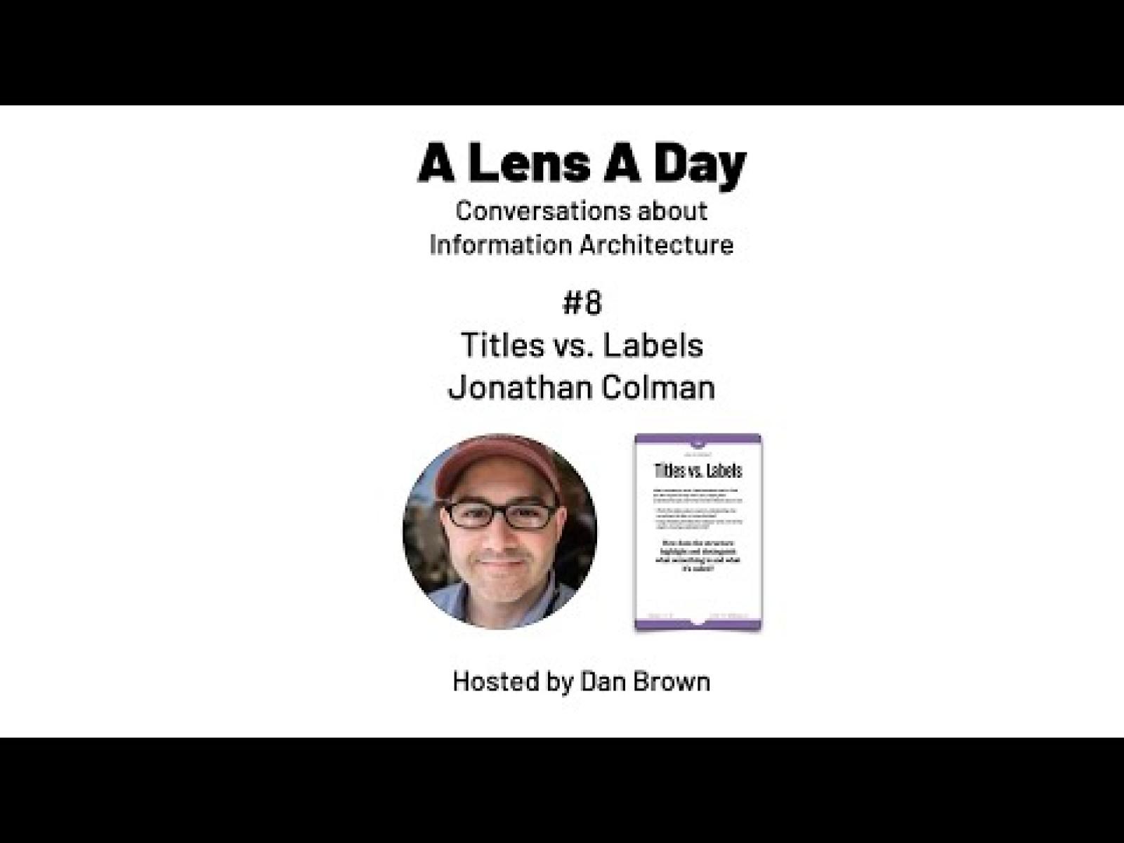 A Lens A Day #8 - Titles vs. Labels