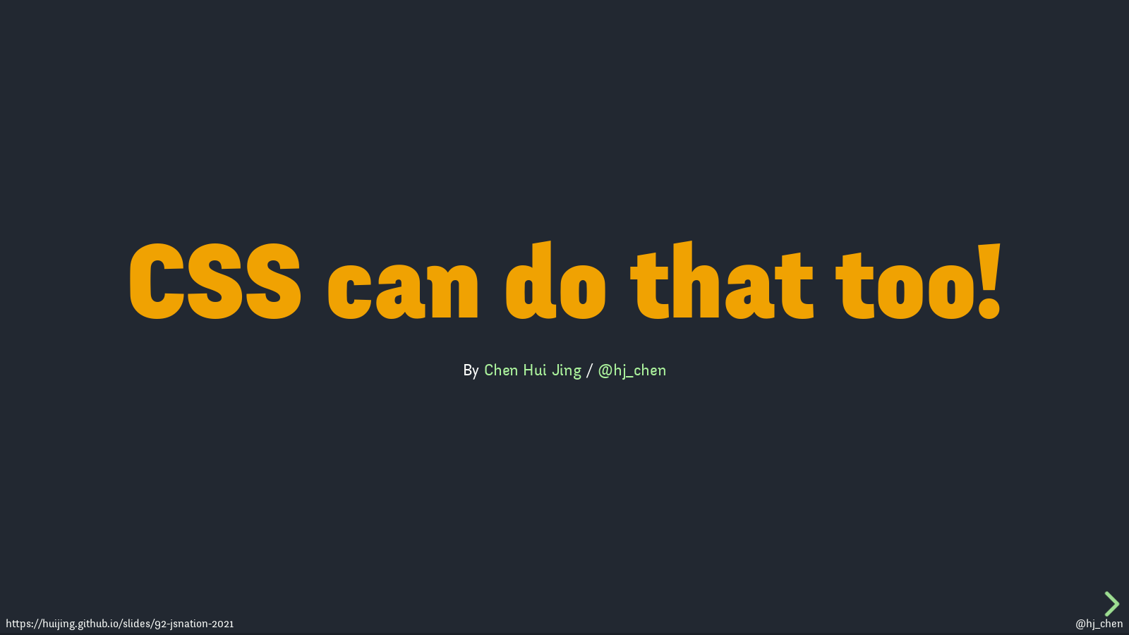 CSS can do that too!