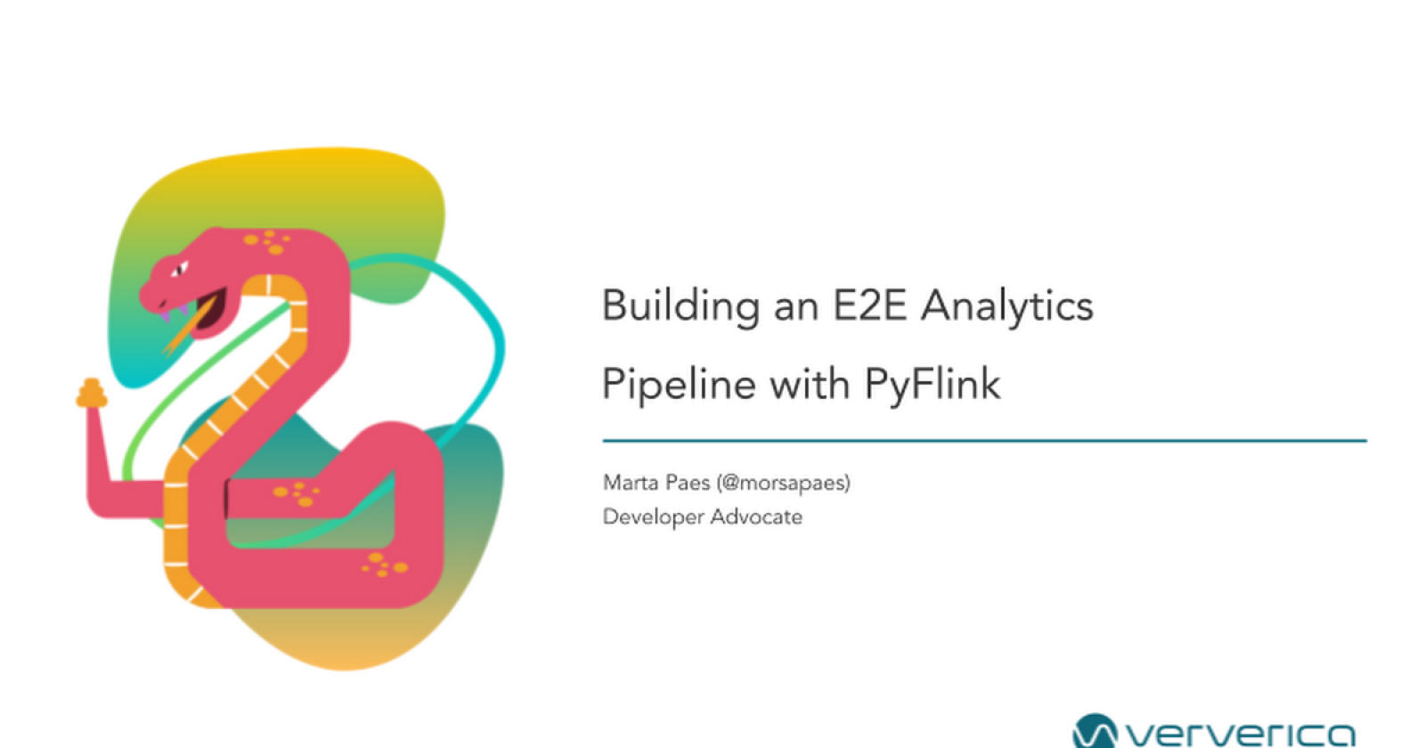 Building an end-to-end Analytics Pipeline with PyFlink