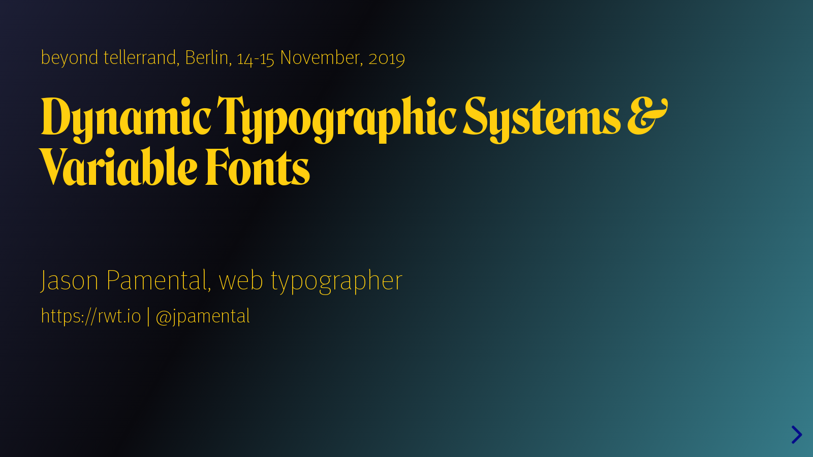 Dynamic Typographic Systems, Modern CSS & Variable Fonts