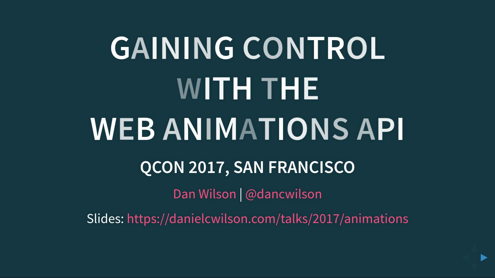 Gaining Control with the Web Animations API