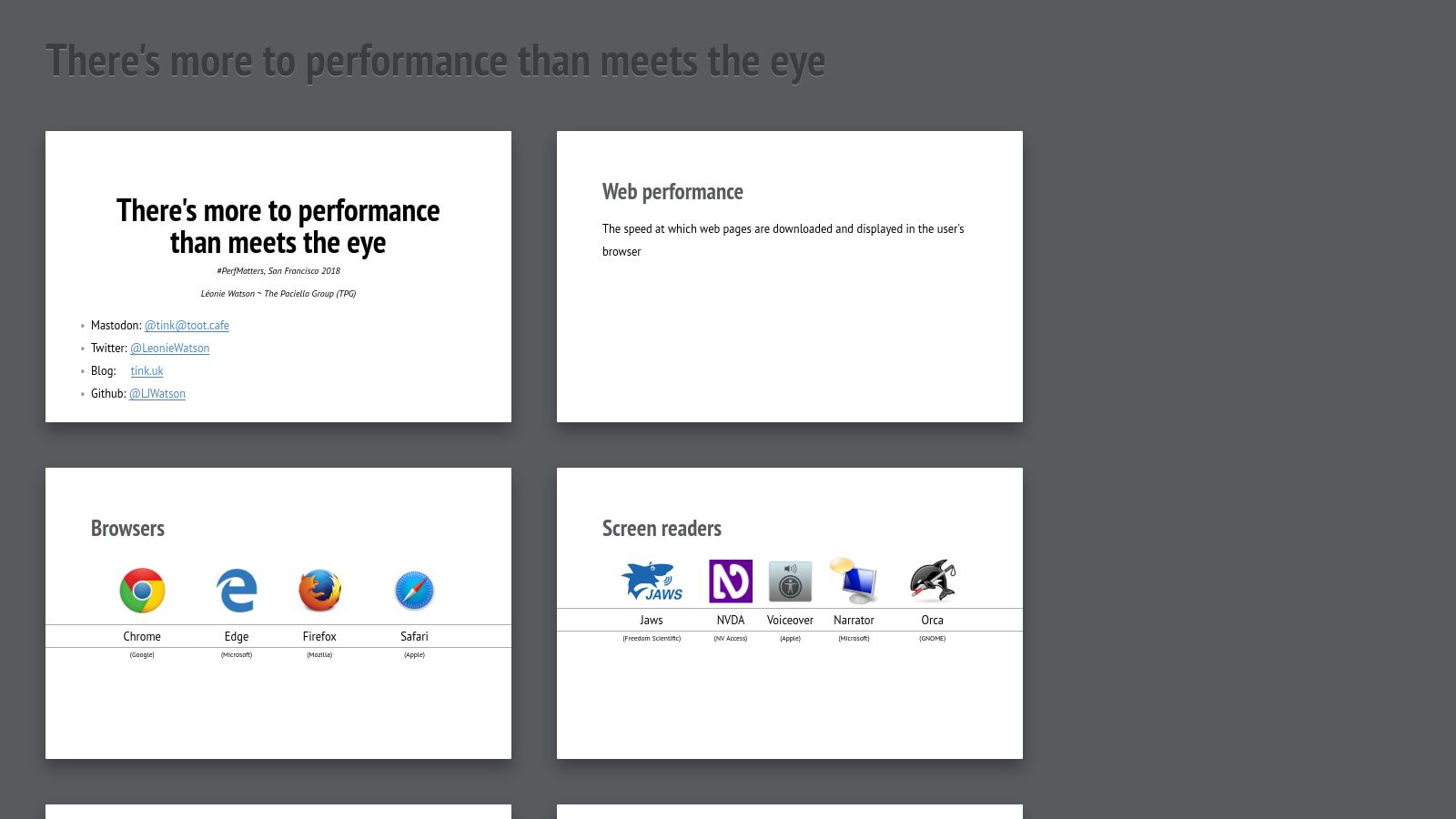 There's more to performance than meets the eye