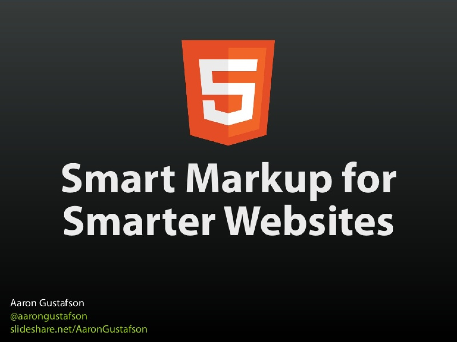 HTML5 Smart Markup for Smarter Websites