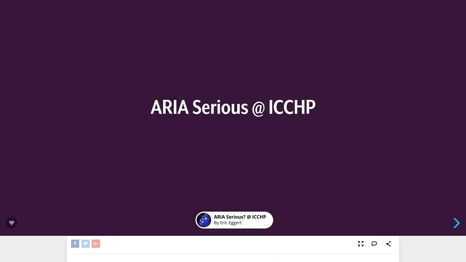 ARIA Serious @ ICCHP