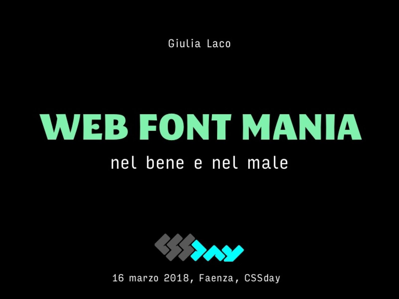 Web font mania – nel bene e nel male