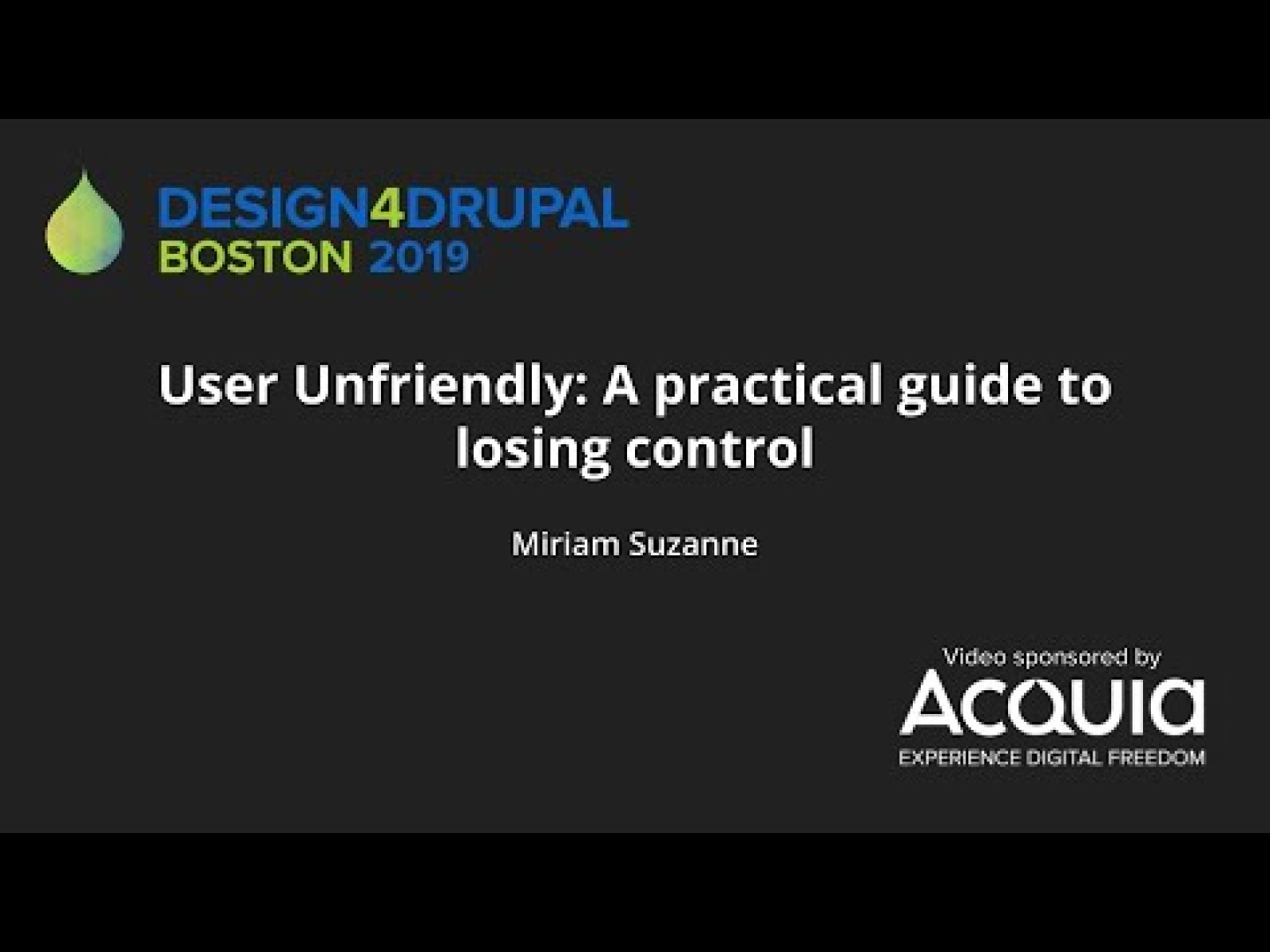 [Keynote] User Unfriendly: A practical guide to losing control