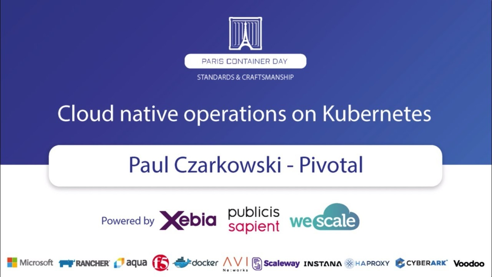 Cloud Native Operations with Kubernetes