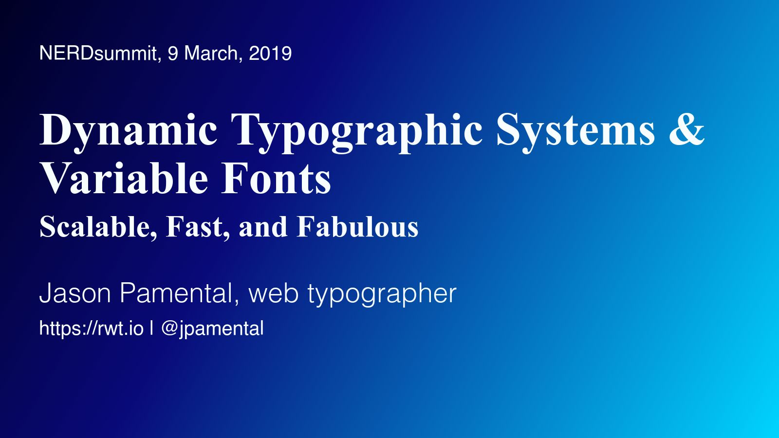 Dynamic Typography with Variable Fonts